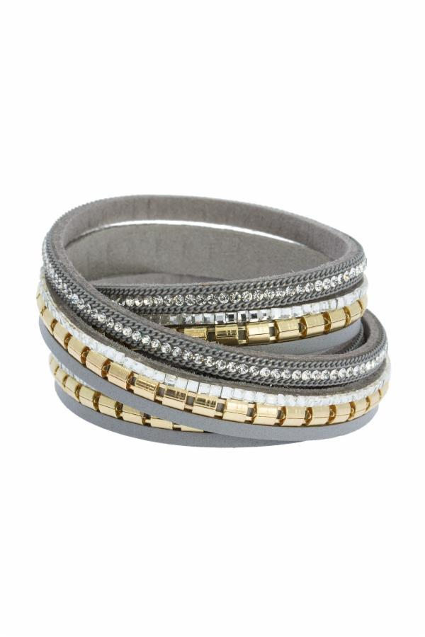Warm Nights Wrap Bracelet Grey