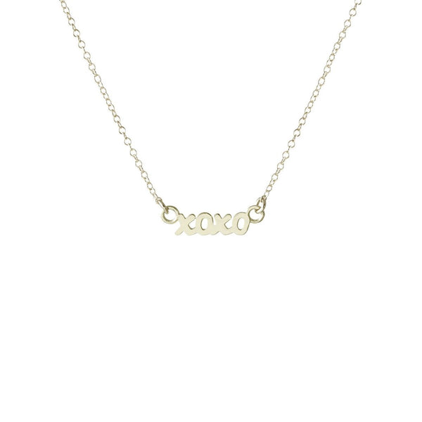 XOXO Script Necklace - Silver