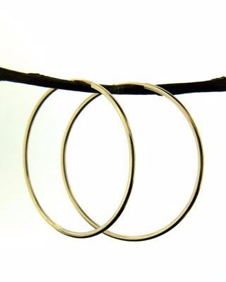 Gold Hoops Earrings - 35mm