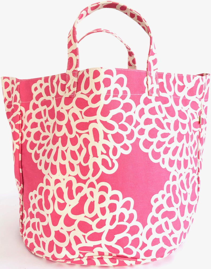 Circle Tote Clouds Pink