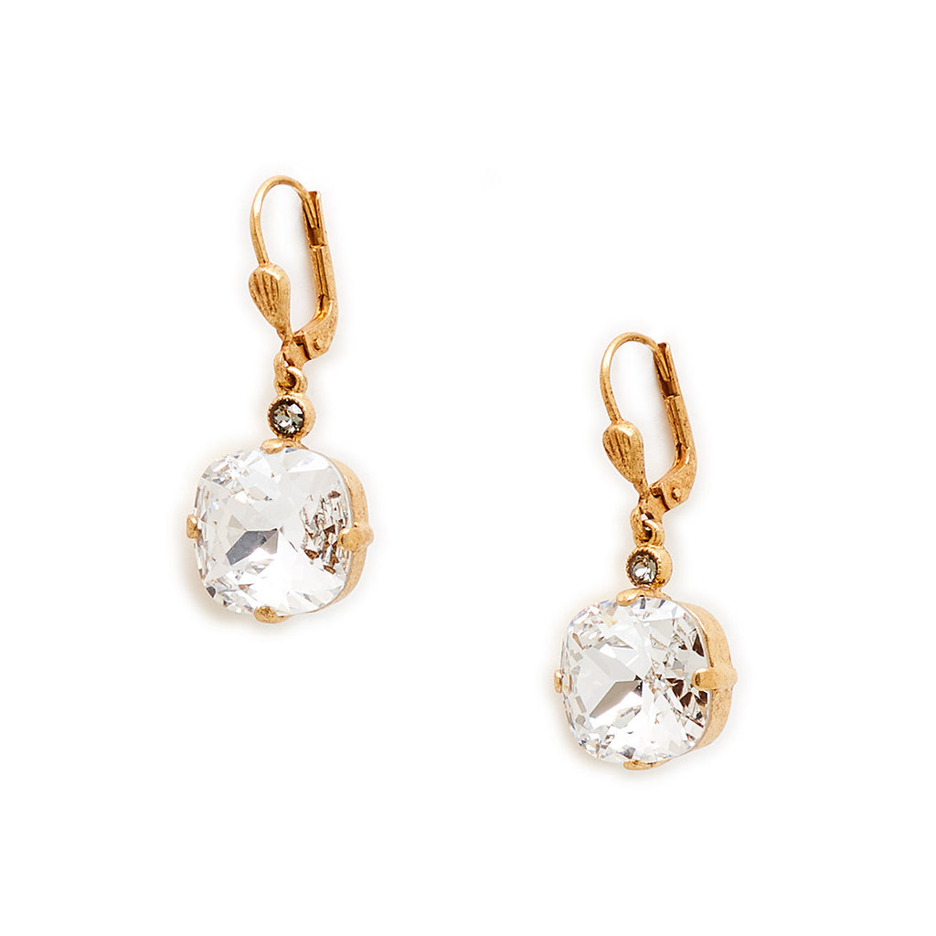 Gold Crystal Earring