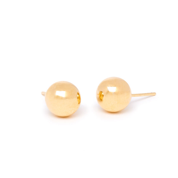 Gold Ball Earring