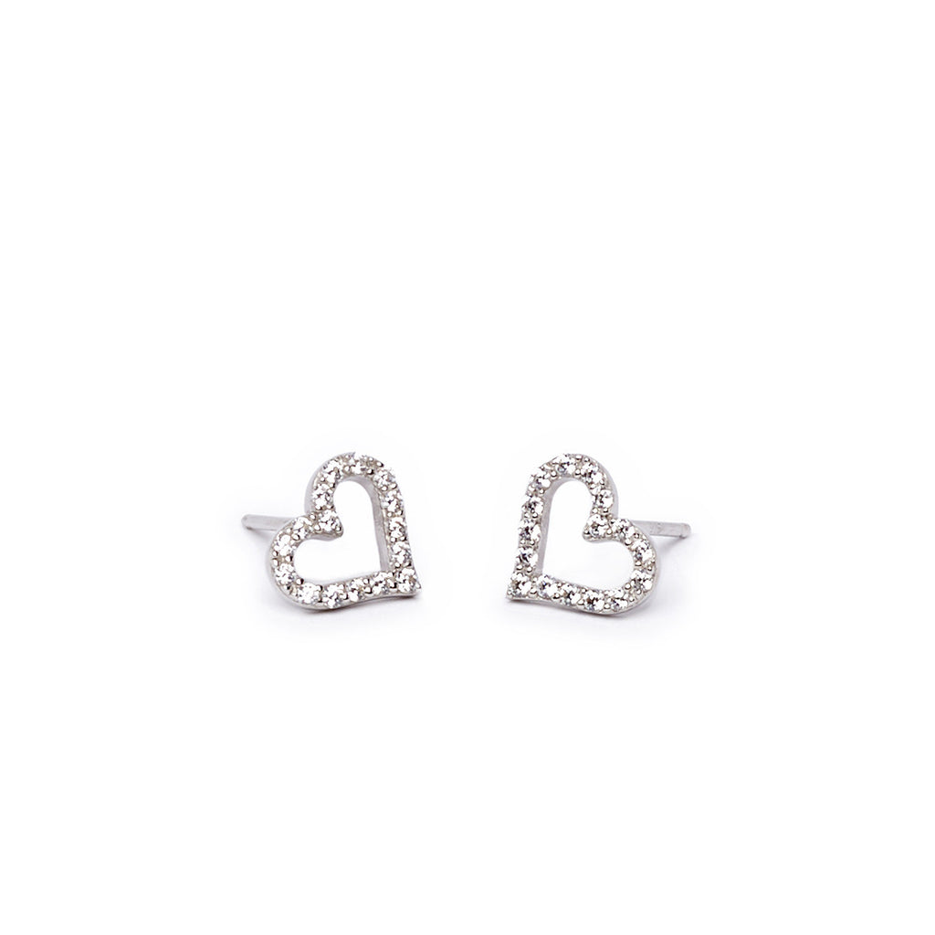 Crystal Open Heart Earring
