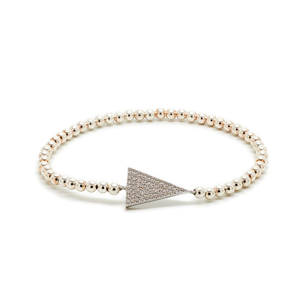 Modern Triangle Beaded Bracelet