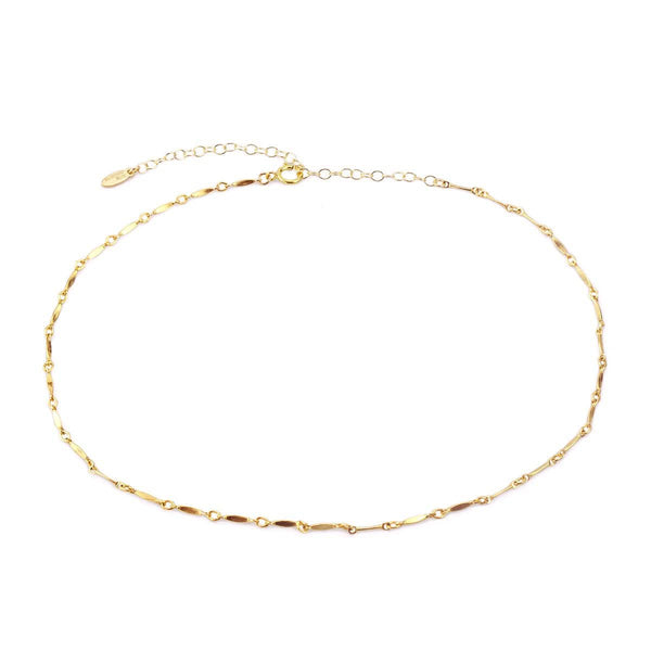 Diamond Shape Bar Chain Necklace
