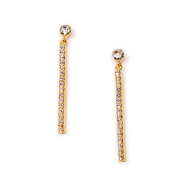 Crystal Vertical Bar Earring