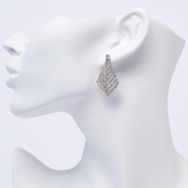 Crystal Diamond Shape Dangle Earring