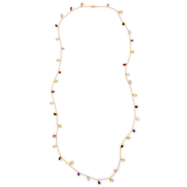 Long Semi Precious Necklace