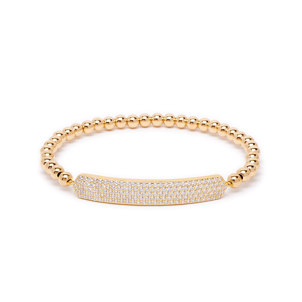 4mm Large Pave Bar Bracelet