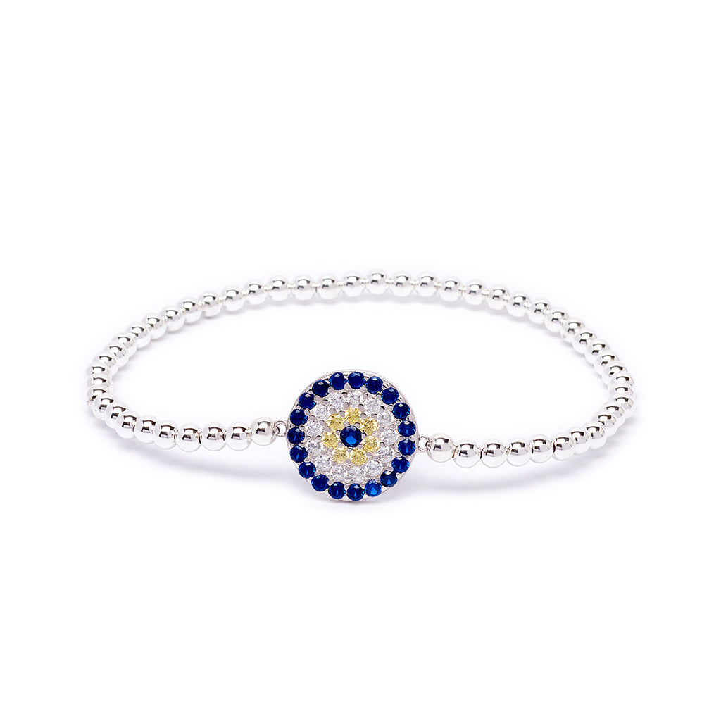 Beaded Evil Eye Dot Bracelet
