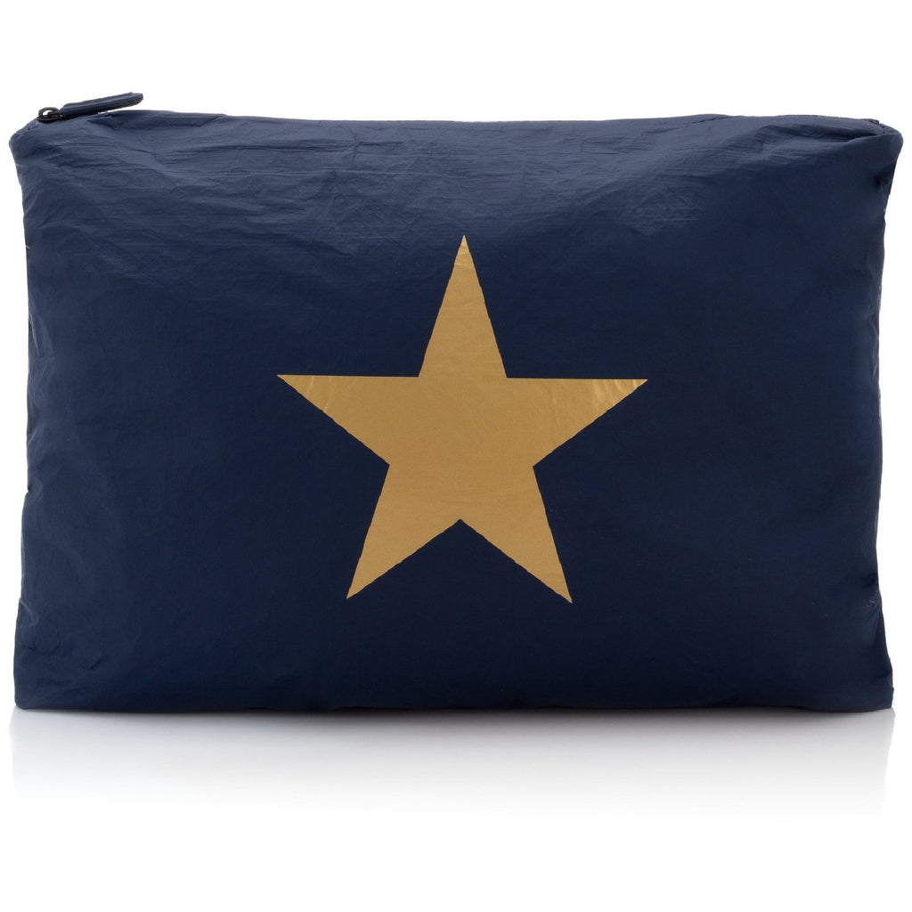 Jumbo Pouch Navy Collection with a Metallic Gold Star