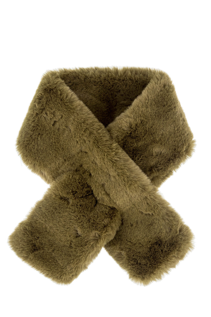 Furry Pull-Thru Scarf - Military