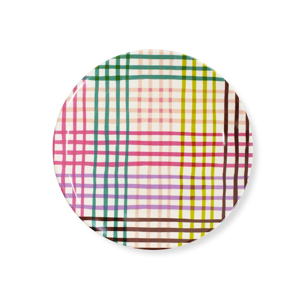 Accent Plate - Rainbow Gingham