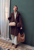 Faux Shearling Bag - Coffee