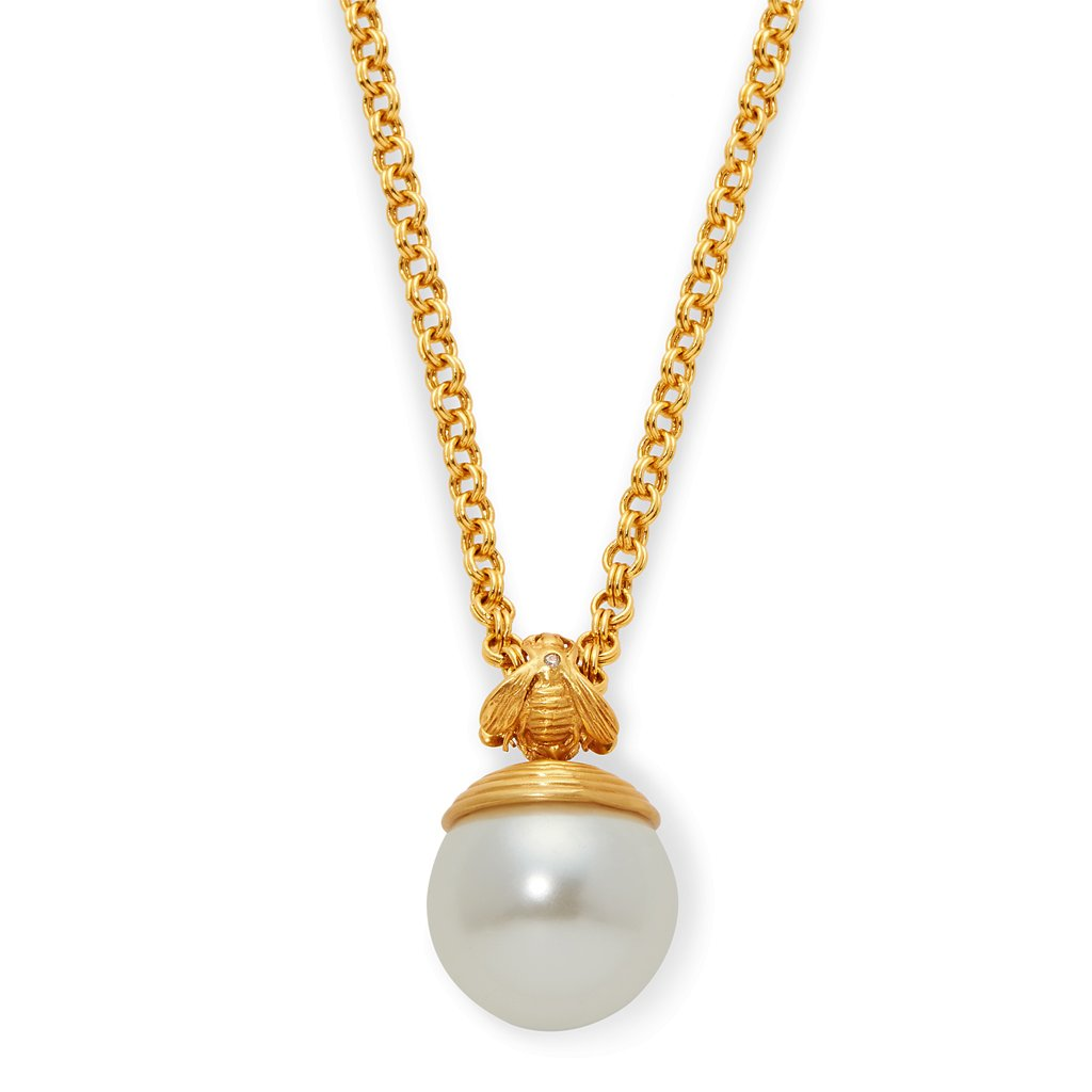 Bee with Pearl Pendant