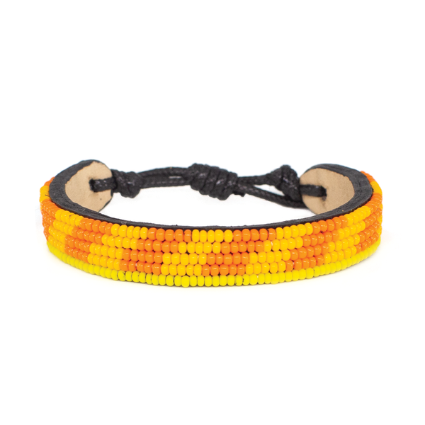 Orange and Yellow Mstari Bracelet