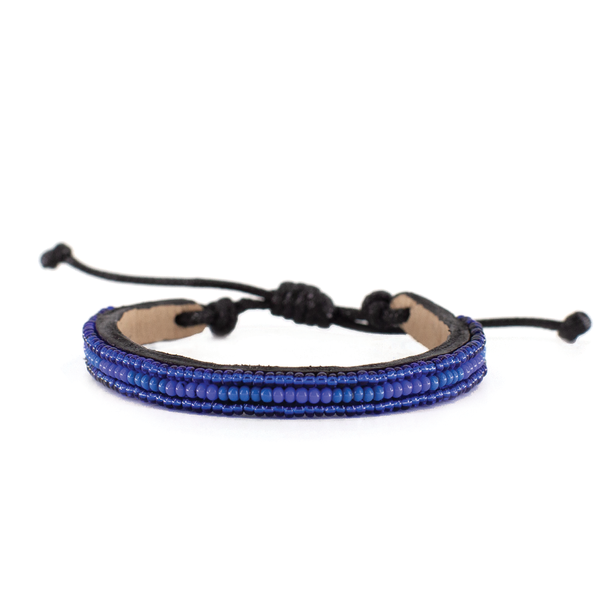 Azure Blue and Medium Blue Nija Bracelet
