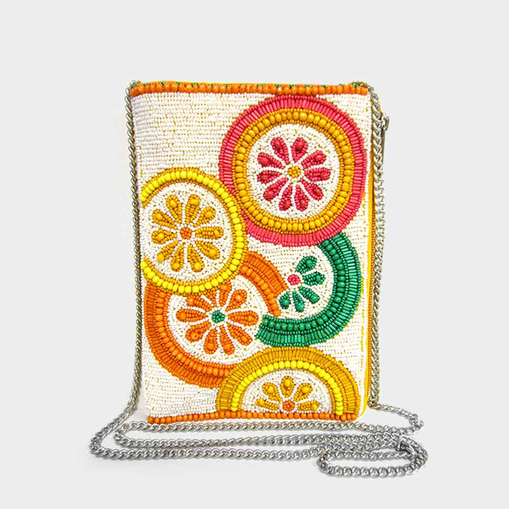 Seed Bead Clutch - Orange