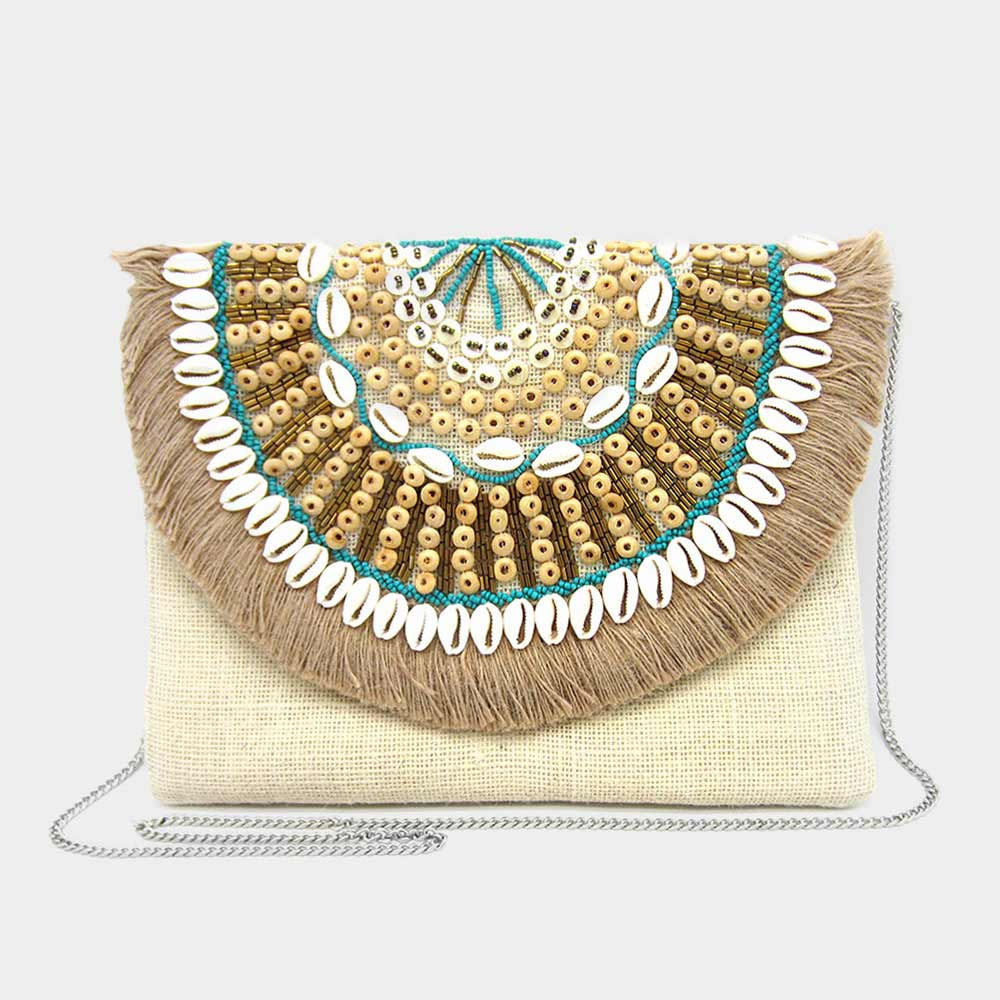 Puka Shell Multi Bead Clutch