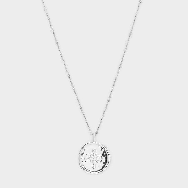 Compass Coin Necklace (Silver)
