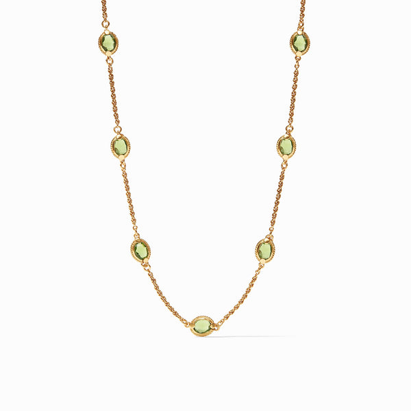 Calypso Demi Delicate Necklace Jade Green