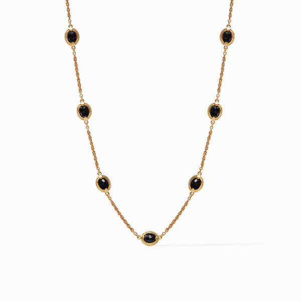 Calypso Demi Delicate Necklace Obsidian Black