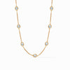 Calypso Demi Delicate Necklace Chalcedony Blue