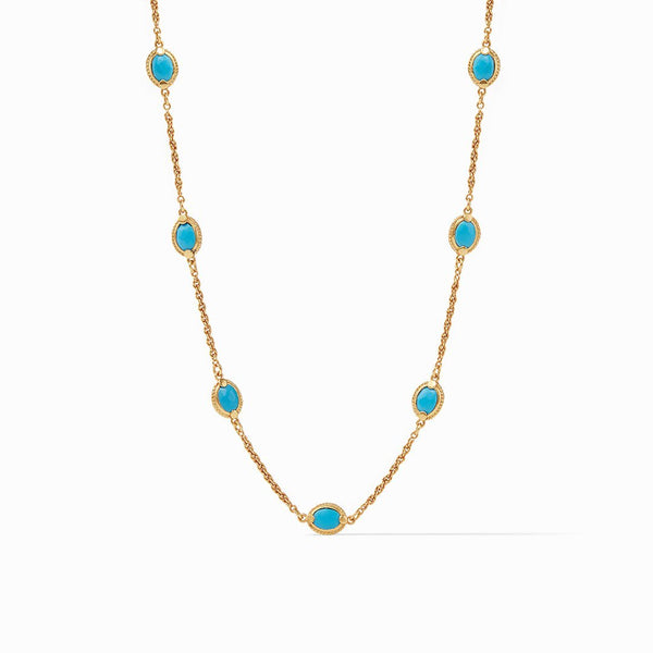 Calypso Demi Delicate Necklace Pacific Blue