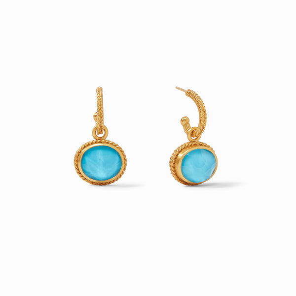 Calypso Hoop & Charm Earring  Iridescent Pacific Blue
