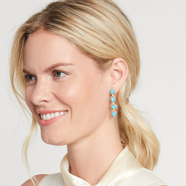 Calypso Statement Earring Clear