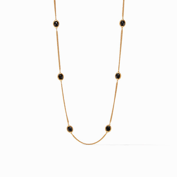 Calypso Station Necklace Black Obsidian