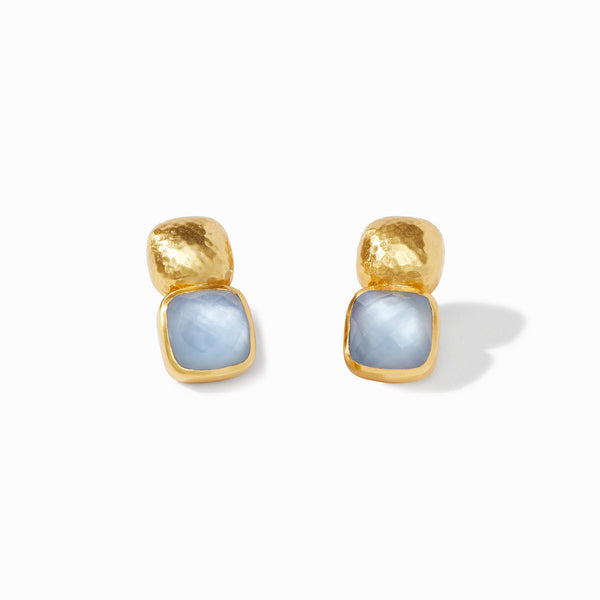 Catalina Earring -Chalcedony Blue