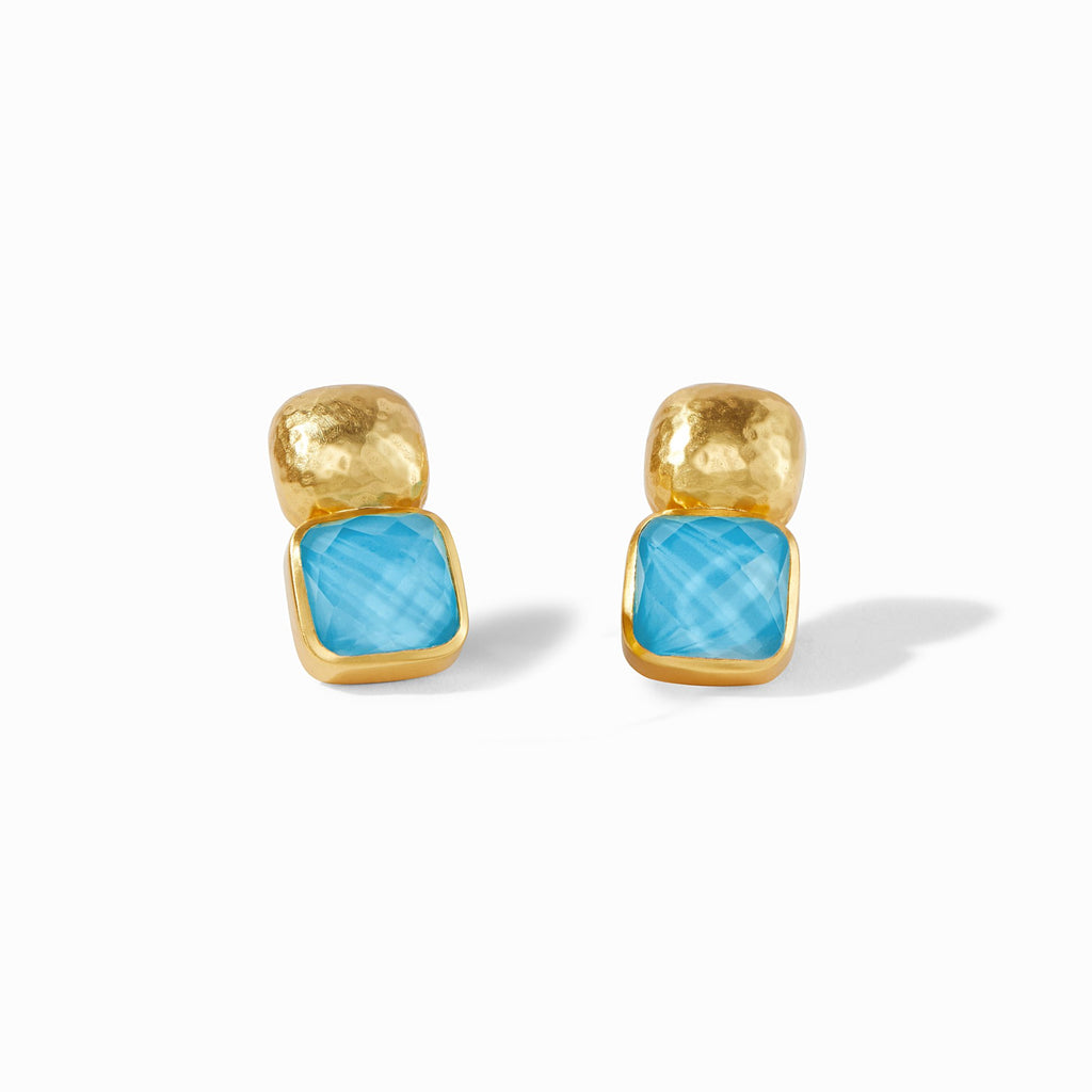 Catalina Earring -  Iridescent Pacific Blue