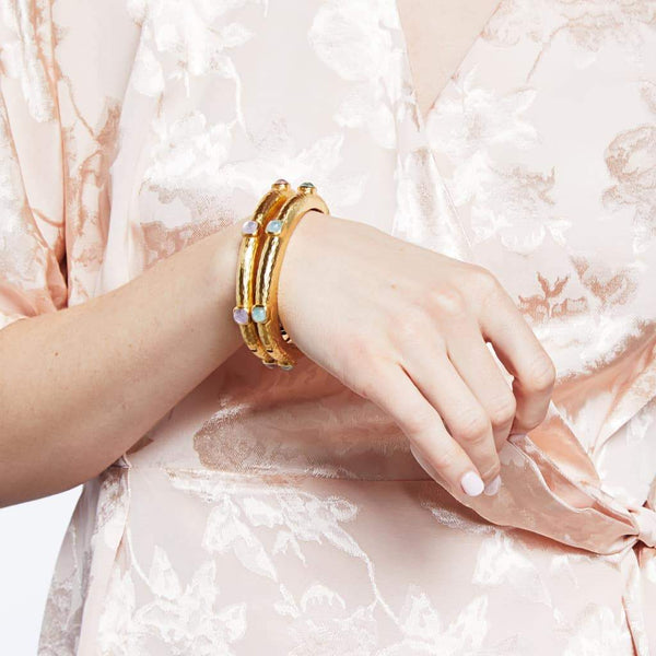 Catalina Hinge Bangle - Iridescent Rose