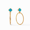 Chloe Cirque Earring  Iridescent Pacific Blue
