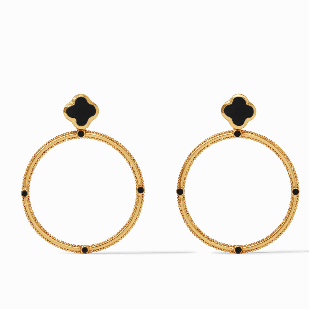 Chloe Statement Earring Obsidian Black