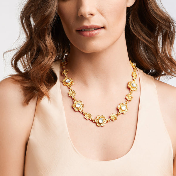 Colette Statement Necklace - Pearl