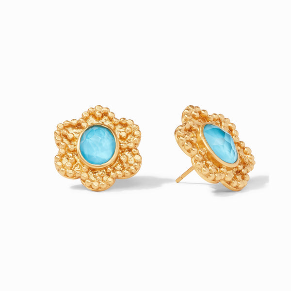 Colette Statement Stud - Pacific Blue