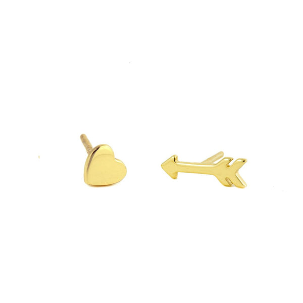 Heart and Arrow Studs