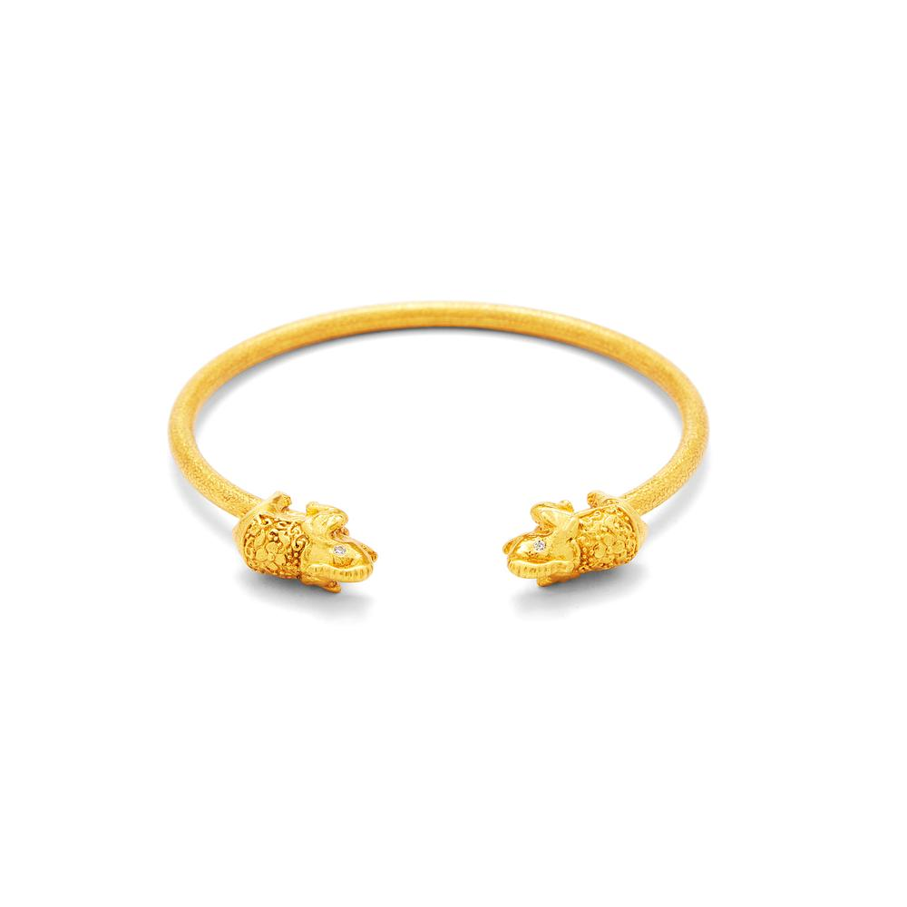 Elephant Open Bangle