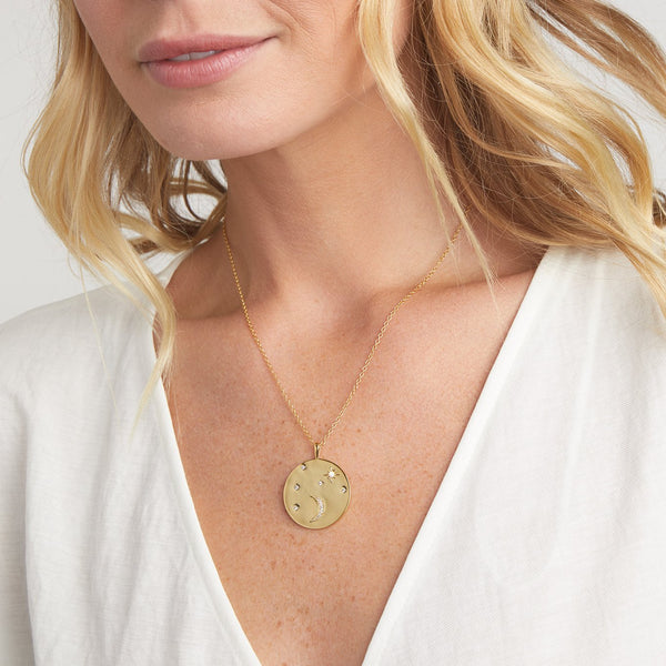 Luna Coin Pendant Necklace