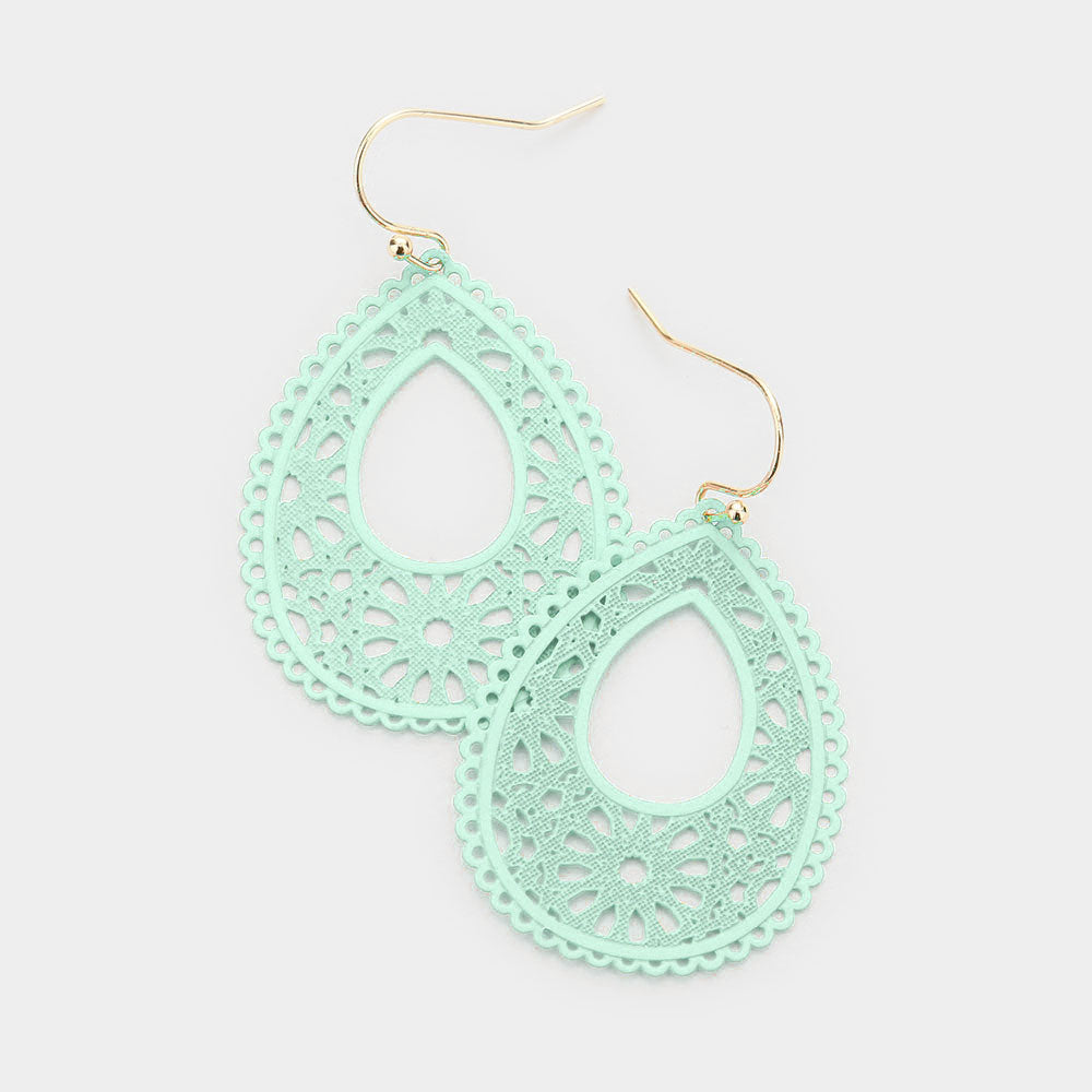 Filigree Teardrop Dangle Earring