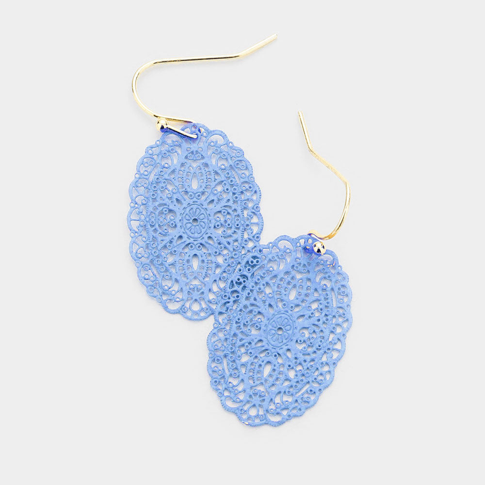 Filigree Oval Dangle Earring