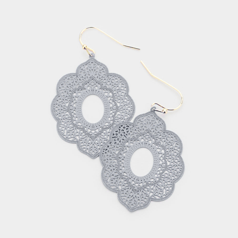 Filigree Petal Dangle Earring