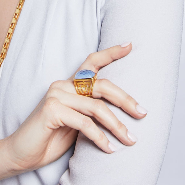 Geneva Statement Ring - Azure Blue