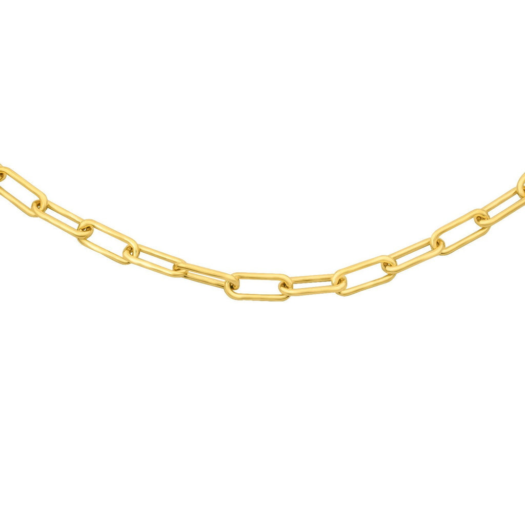 "18"" 3.5mm Oval Gold Vermeil Chain"
