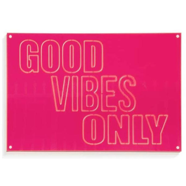 Neon Acrylic GOOD VIBES ONLY Pink