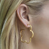 Gardenia Hoop Earring - Small