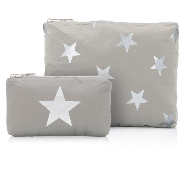 Gray with Silver Stars