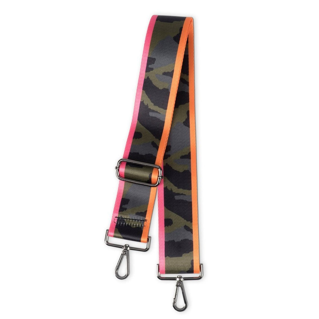 Green Camo w/Pink and Orange Handbag Strap